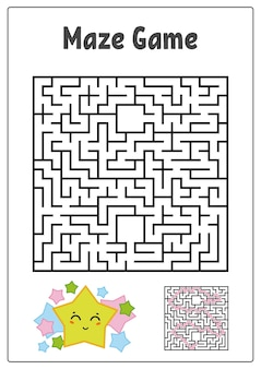 Labyrinthe carré abstrait.