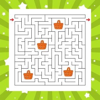 Labyrinthe carré. jeu pour les enfants. puzzle pour enfants.
