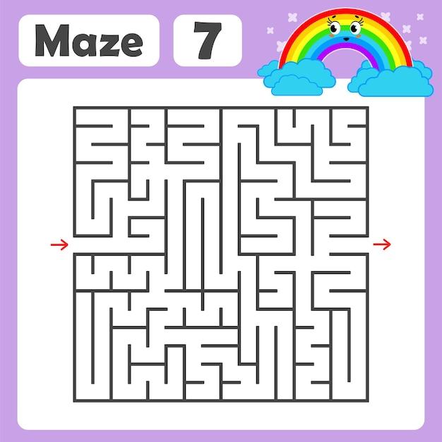 Un labyrinthe carré pour les enfants.