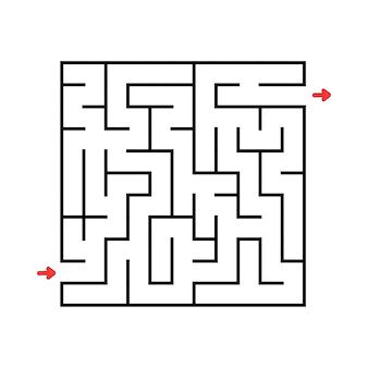 Labyrinthe carré.
