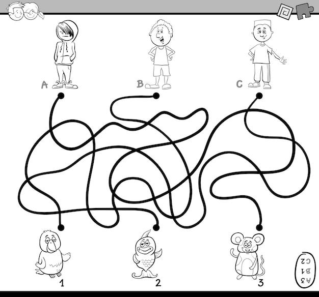 Labyrinthe de chemin de coloriage