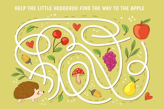 Labyrinthe coloré créatif pour les enfants