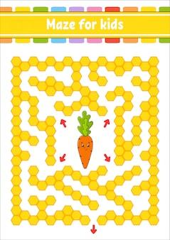 Labyrinthe de couleur rectangulaire.
