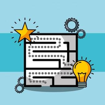 Labyrinthe créativité idée solution solution stratégie