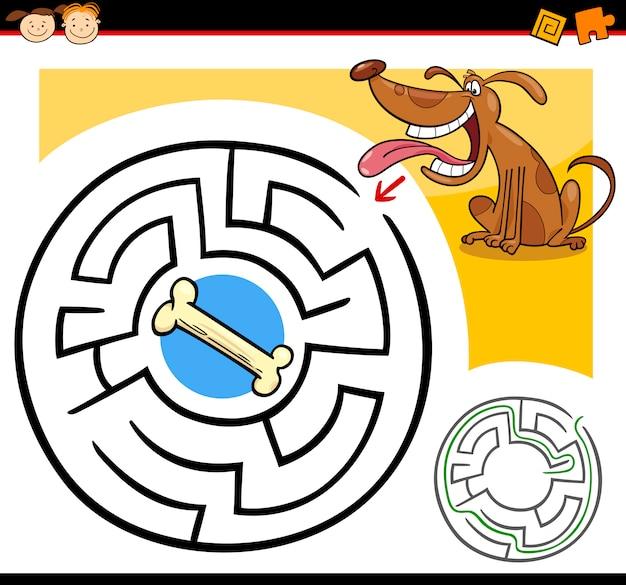 Labyrinthe de dessin animé ou jeu de labyrinthe