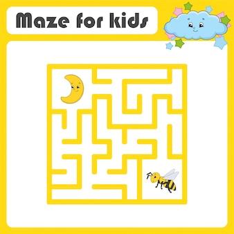 Labyrinthe drôle. jeu pour les enfants. puzzle pour enfants. style de bande dessinée. énigme du labyrinthe.
