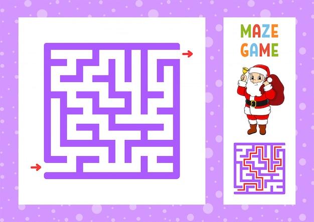 Labyrinthe drôle. jeu pour les enfants. puzzle pour enfants.