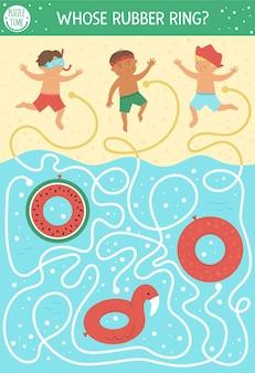 Labyrinthe d'été pour les enfants