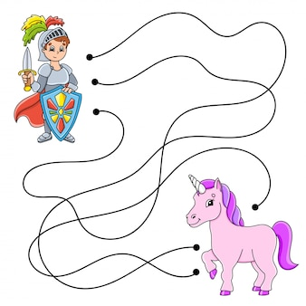 Labyrinthe facile. labyrinthe pour les enfants. feuille de travail d'activité. puzzle pour enfants.