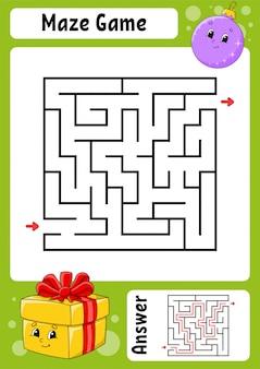 Labyrinthe. jeu pour les enfants. drôle de labyrinthe.