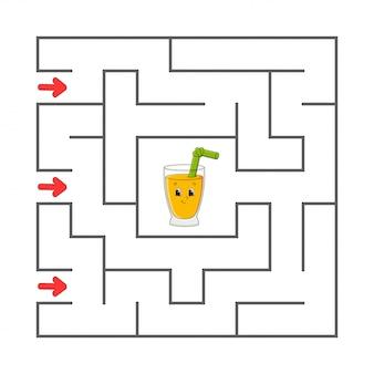 Labyrinthe. jeu pour les enfants. labyrinthe drôle. feuille de travail pour le développement de l'éducation.