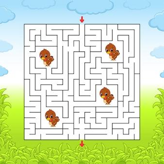 Labyrinthe. jeu pour les enfants.