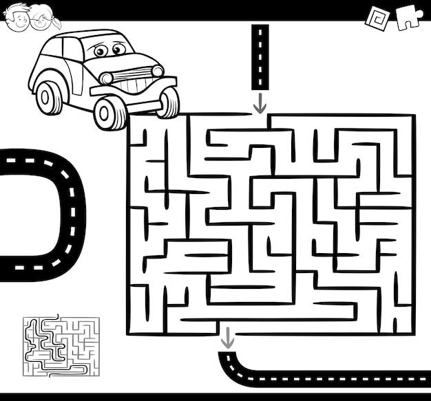Labyrinthe ou labyrinthe à colorier