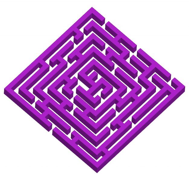 Labyrinthe, labyrinthe avec entrée et sortie.