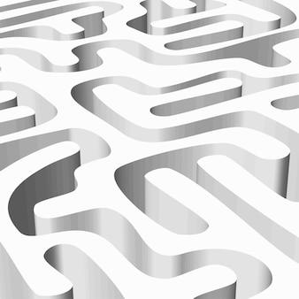 Labyrinthe lisse et blanc