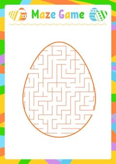Labyrinthe ovale couleur. feuilles de travail pour enfants. page d'activité.