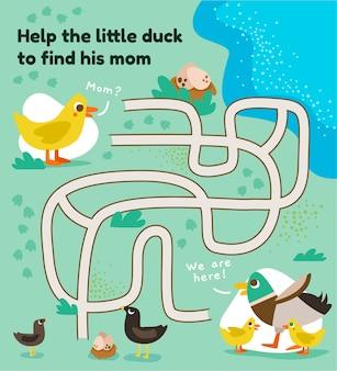 Labyrinthe pour les enfants avec des animaux