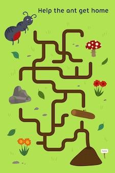 Labyrinthe pour les enfants feuille de travail pour les enfants