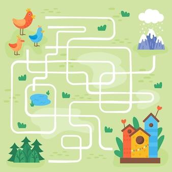 Labyrinthe pour les enfants