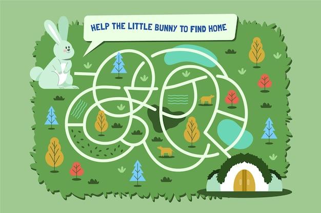 Labyrinthe pour illustration enfants