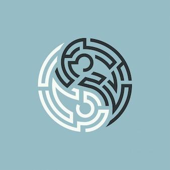 Labyrinthe yin yang