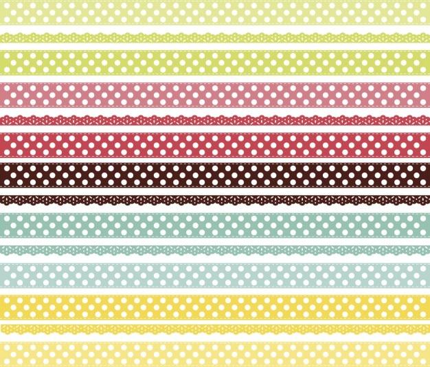 Lacets colorés fond