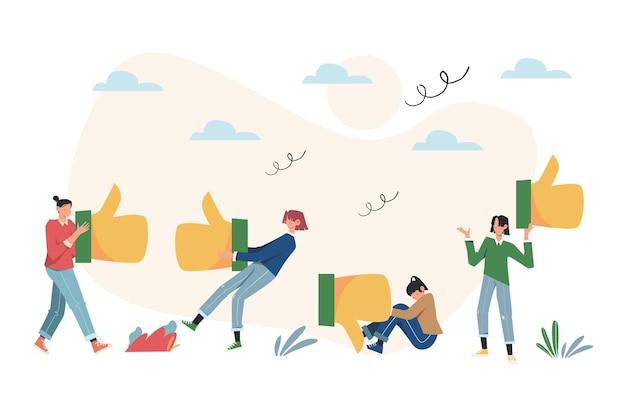 Laisse une bonne critique en ligne pour un produit ou un service, des critiques, un bon travail consommateur satisfait