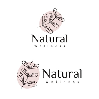 Laisse la conception du logo de bien-être naturel