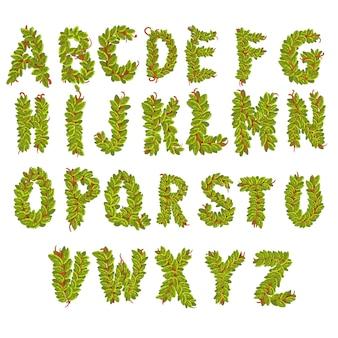 Laisse des lettres de l'alphabet