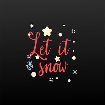 Laisse la neige. bannière de vacances