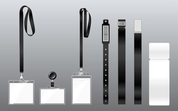 Laissez-passer des bracelets et des badges sur les cordons pour accéder aux éléments de sécurité et de contrôle des événements du festival ...