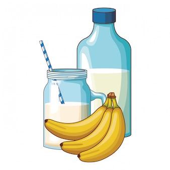Lait et banane