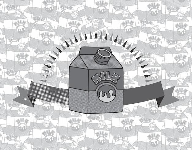 Lait boisson thème vector illustration de conception graphique art