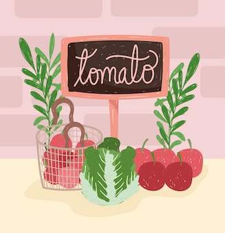 Laitue tomate bio
