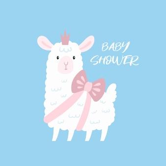 Lama bébé agneau.