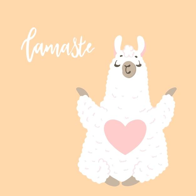 Lama en style cartoon. autocollants. illustration dessinée à la main. éléments pour carte de voeux, affiche, bannières. conception de t-shirt, cahier et autocollant