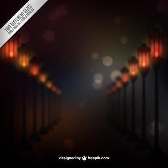 Lampadaires abstrait