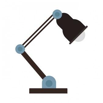 Lampe de bureau isolée