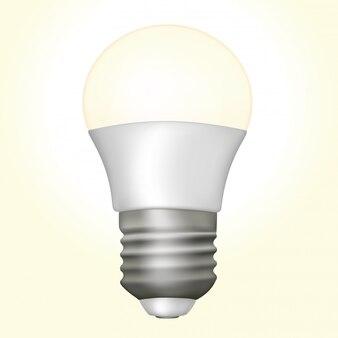 Lampe à diode électroluminescente incluse dans un circuit électrique isolé