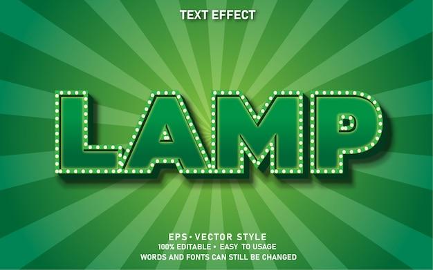 Lampe à effet de texte modifiable