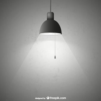 Lampe avec grunge texture