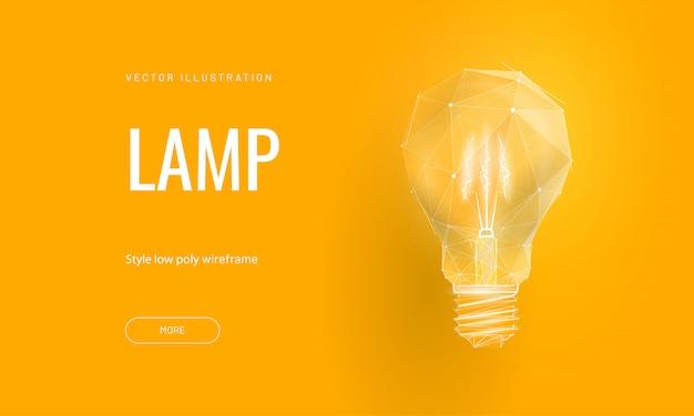 Lampe à incandescence pour démarrage ou éducation ou idée créative