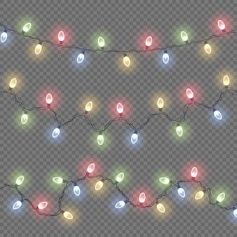 Lampe à lueur colorée sur des guirlandes lumineuses lumières rougeoyantes décorations de guirlande de noël led néon