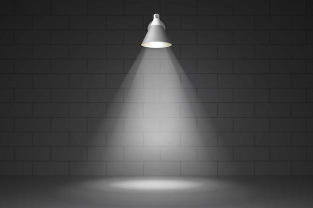 Lampe sur le mur réaliste
