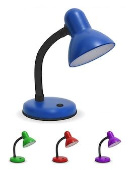 Lampe de table sur fond blanc