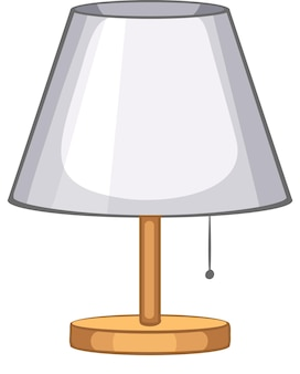 Une lampe de table pour la décoration intérieure sur fond blanc