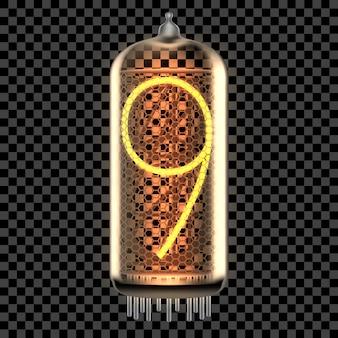 Lampe témoin tube nixie avec numéro
