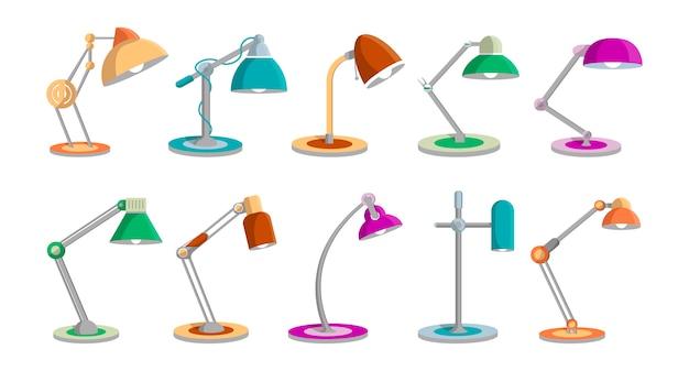 Lampes de bureau mis en style plat