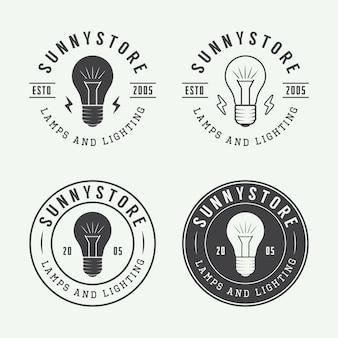 Lampes et logo d'éclairage
