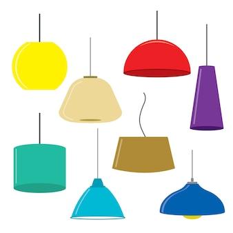 Lampes meubles plafonniers vecteur